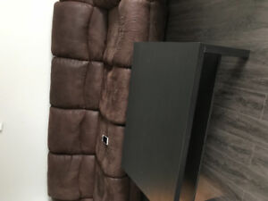 Recliner sofa set with 2 side tables and 1 centre table for sale