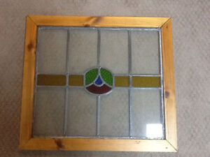 Stain glass window - red/yellow/blue green