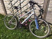 Ladies mountain bike with front suspension