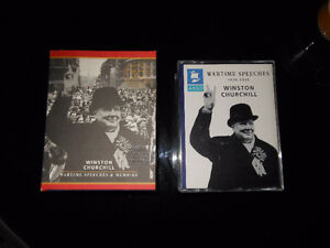"6 Cassettes Winston Churchill ""Wartime Speeches & Memoirs"" ++++."
