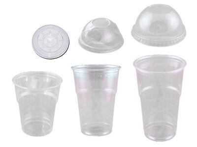 50 Trinkbecher Becher klar 200 250 oder 300 ml mit oder ohne Deckel Ø 78 mm PET Becher Deckel