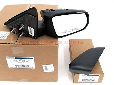 - 2010-2012 Ford Mustang RH Right Passenger Side View Mirror & Skull Cover Cap OEM