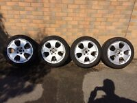 """17"""" Audi A3 alloy rims and tyres, set of four"""