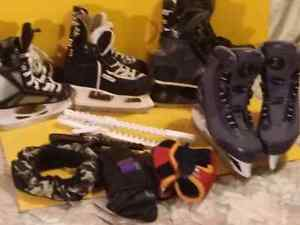 Skates and skate guards 4 sale.   All different sizes/makes