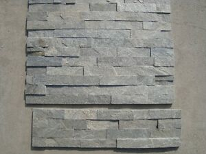 Grey quartzite real stacked stone