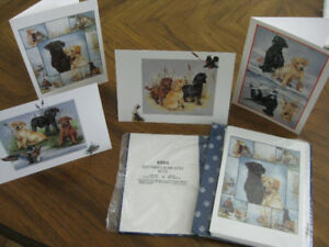 8 BLANK NOTE CARDS FOR DOG LOVERS
