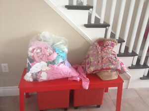 Large bag of size 3 girl clothes and size 8 shoes