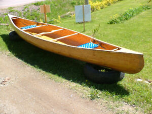 16 foot hand crafted Cedar strip Canoe- Get ready for Summer