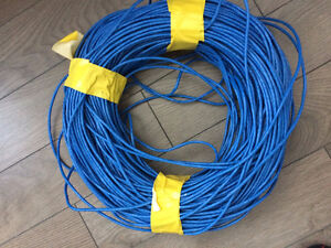 Around 500+ feet of Cat5e cable - blue