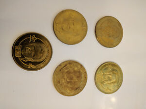 6 McDonalds 1998 Olympic Winter Hockey Team Canada Coins