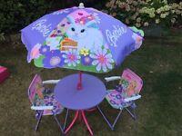 Childs Barbie patio set