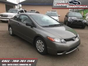 2007 Honda Civic Coupe 5 SPEED MINT...NO ACCIDENTS...ONE OWNER