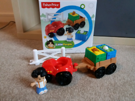 Fisher price little people tractor and trailer