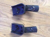 Pair of Quinny buzz car seat adaptors for use with Maxi Cosi cabriofi