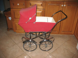 RED DOLL CARRIAGE - BIG WHEELS