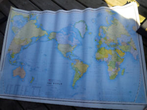 Paper Map of the World - four available