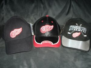 3 DETROIT RED WING CAPS, NEW