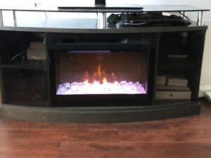 Beautiful Fireplace/TV stand