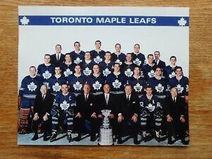 1967 Toronto Maple Leafs Stanley Cup Champions 10 x 8 Photo