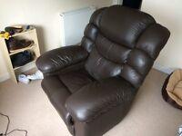 La-Z-boy leather recliner