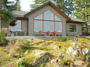 Salt Spring Island Pet Friendly Ocean view  Home with Hot Tub