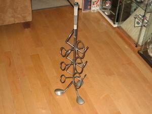 Golf Wine Rack beautifully finished. + Blue Jays Bobblehead