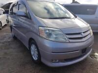 TOYOTA ALPHARD HYBRID CAMPERVAN WITH REAR CONVERSION AND FRIDGE