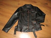 Snappy leather jacket $10.00