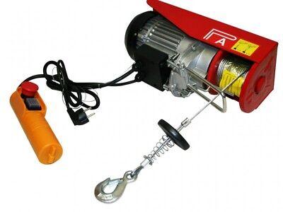CABRESTANTE POLIPASTO 400-800KG MALACATE ELECTRICO 230V 1300W CABLE 12M