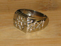 PRICE REDUCED: 10K white gold nugget ring, size 8.50