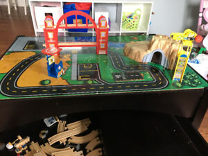 Kids train table and set with storage