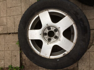 VW Golf Jetta Beetle Mk4 Mkiv Alloy Rims and Tires