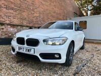 2017 BMW 1 Series 2)116d Sport 5dr [Nav/Servotronic] EU6 ULEZ FREE Auto White Ha