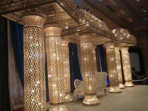 CRYSTAL MANDAP with lights FOR SALE