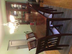 Mahogany Dining Table and Cabinet