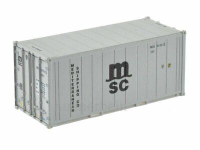 Kombimodell 88560.04 20' Fuss Kühl-Container Reefer MSC grau H0 1/87 NEU+OVP