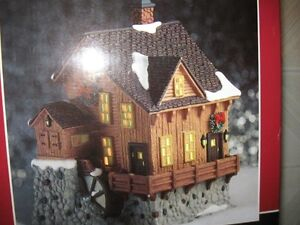 Old Mill Christmas Village Porcelain Collectible
