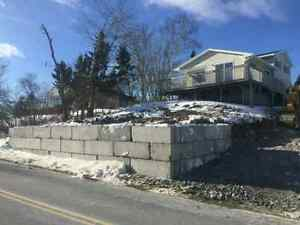 Concrete wall bricks 3' x 5'