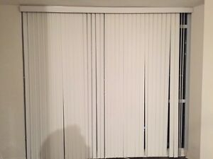 Vertical White Slat Blinds