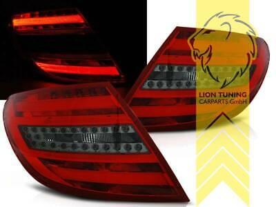 Light Bar LED Rückleuchten für Mercedes Benz W204 Limousine C-Klasse rot schwarz