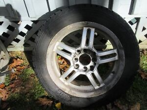 Tire Mounted On Alloy Rims