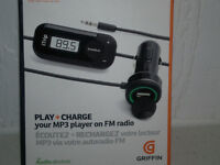 BRAND NEW GRIFFIN PLAY +CHARGE MP3 PLAYER ON FM RADIO