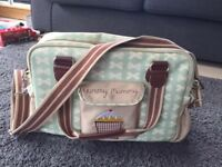 Pink lining yummy mummy changing baby bag