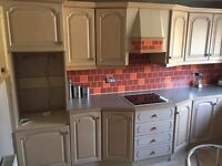 Kitchen in Limed Oak. 21 units and integrated appliances if wanted
