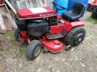 Toro 418-8 Wheel Horse riding Mower with Snow blower