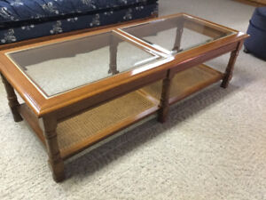 Coffee table, end tables