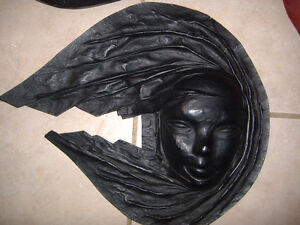 Brazilian leather face wall hangings - decor items Kitchener / Waterloo Kitchener Area image 1