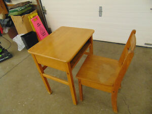 Antique School Desk & Chair