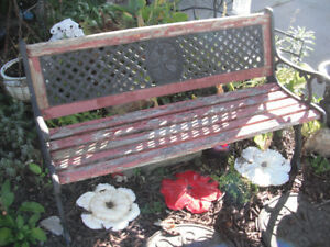 Outdoor bench vintage