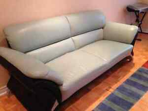 Leather Couch + chair